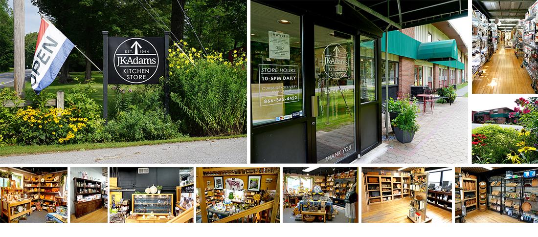 J.K. Adams Kitchen Store Photo Collage - Exterior and Interior